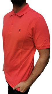 Men's Regular Fit Half Sleeve Rose Red Polo Shirt