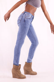 Women Slim Fit Light Blue Jeans