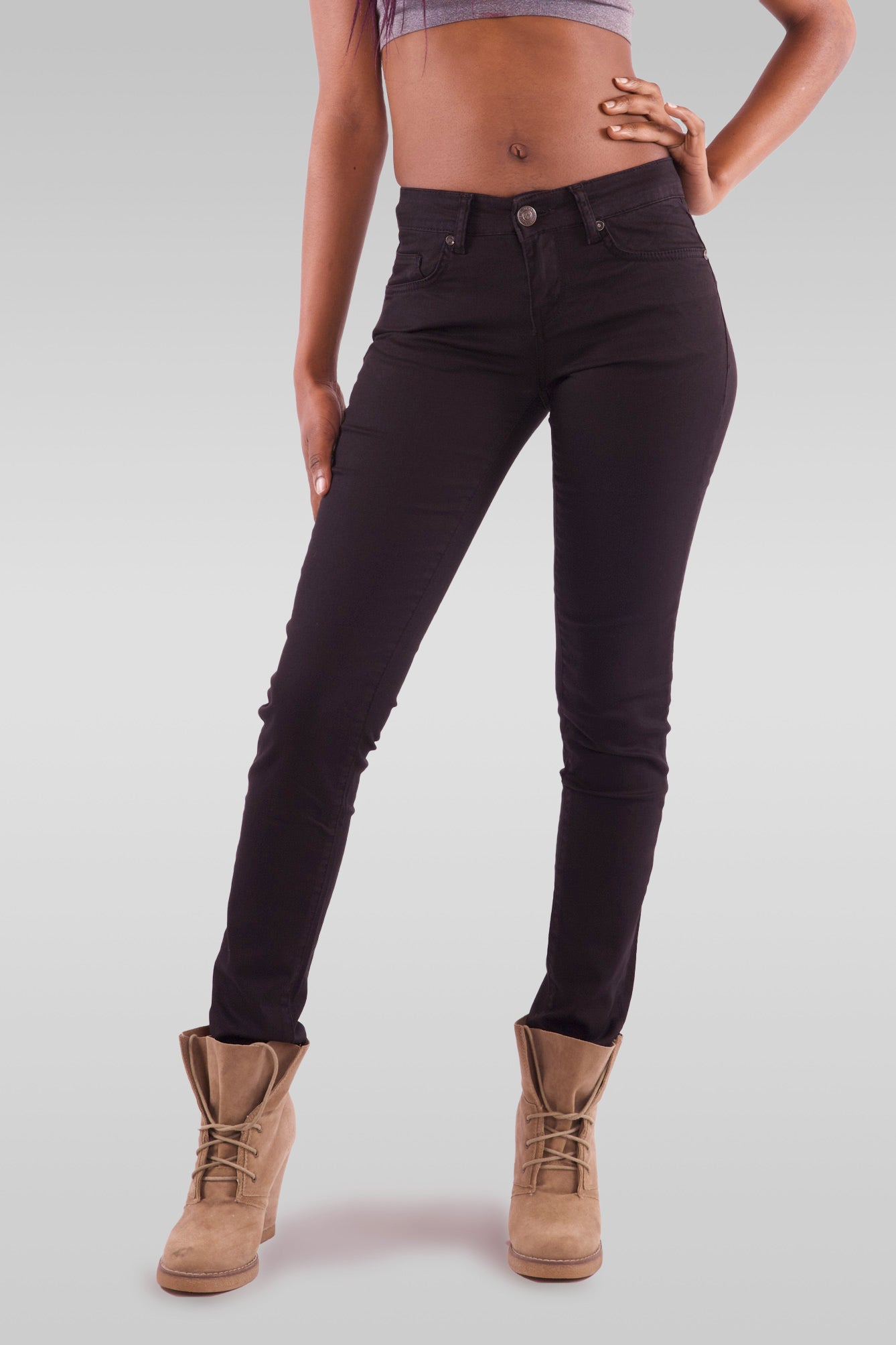 Women Slim Fit Black Jeans - Hillmarten