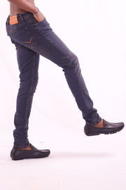 Men's Slim Fit Dark Blue Jeans