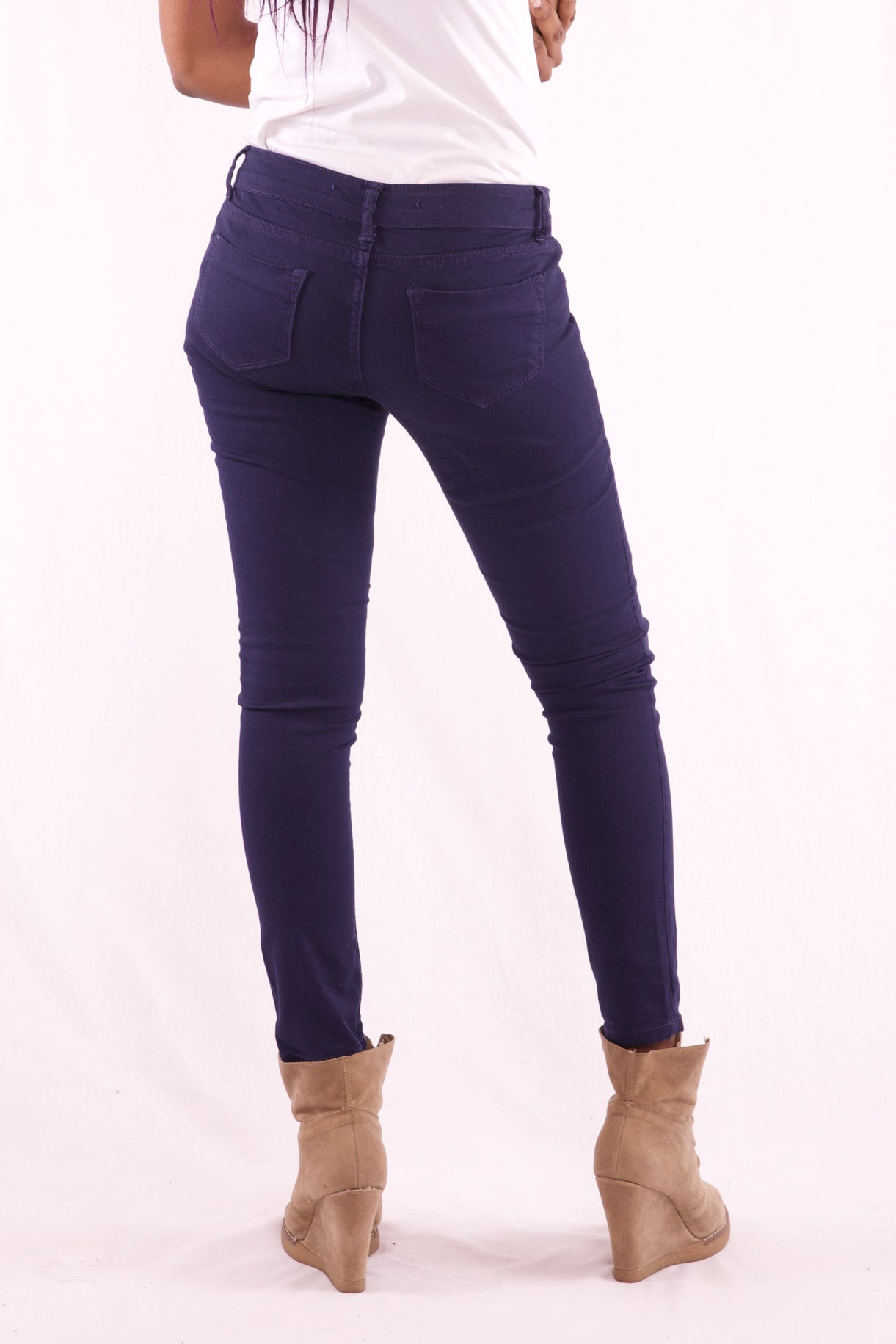 Women Slim Fit Navy Blue Jeans - Hillmarten