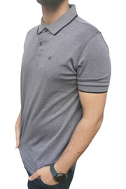 Men's Regular Fit Half Sleeve Grey Polo Shirt