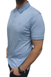 Men's Regular Fit Half Sleeve Sky Blue Polo Shirt
