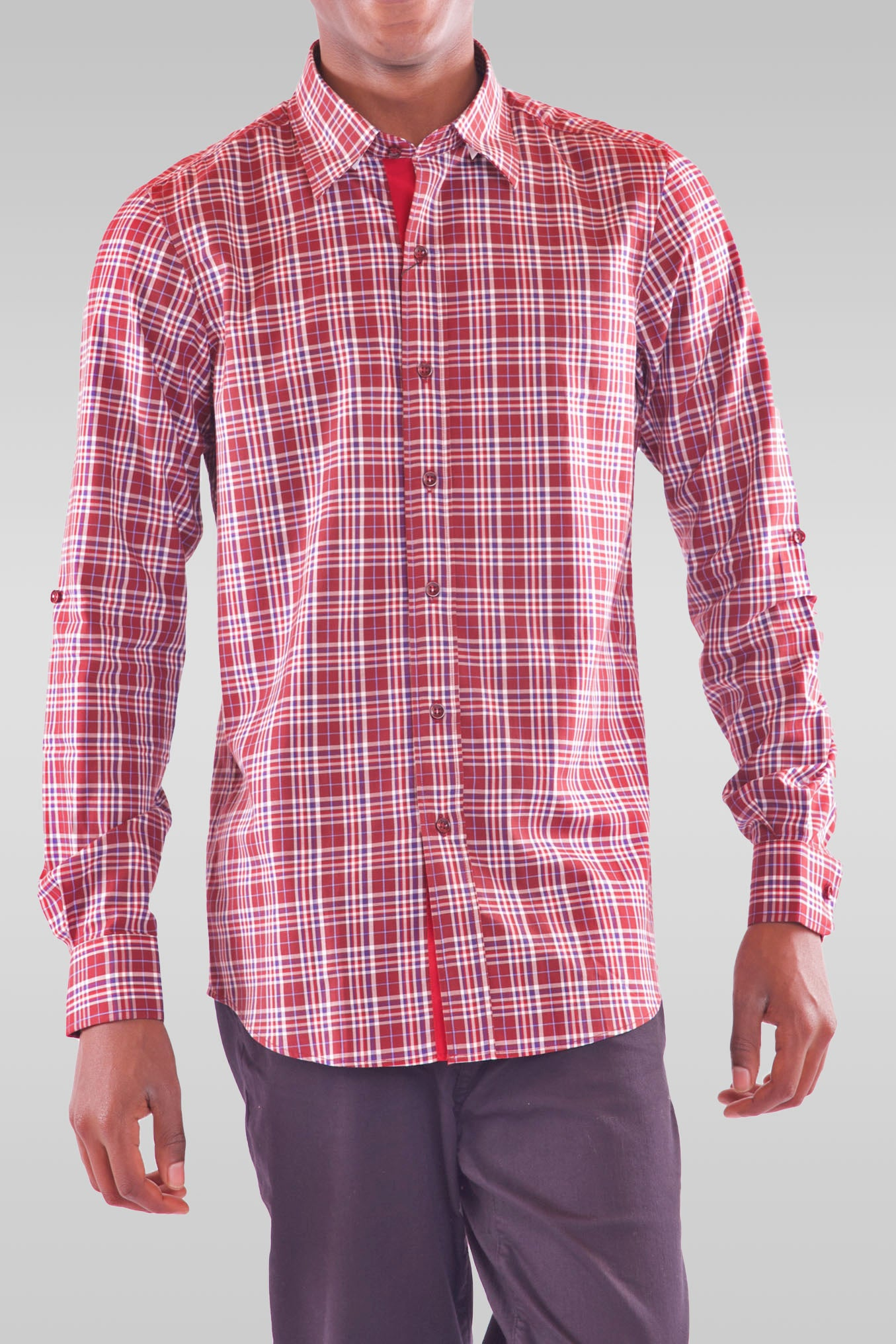 Men's Full Sleeve Red Shirt - Hillmarten