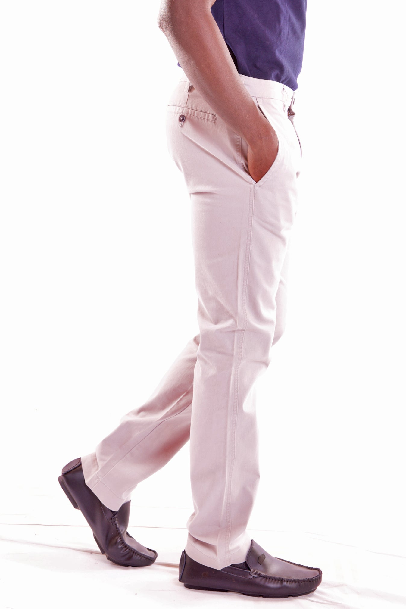 Men's Regular Fit Stretch White Pant - Hillmarten