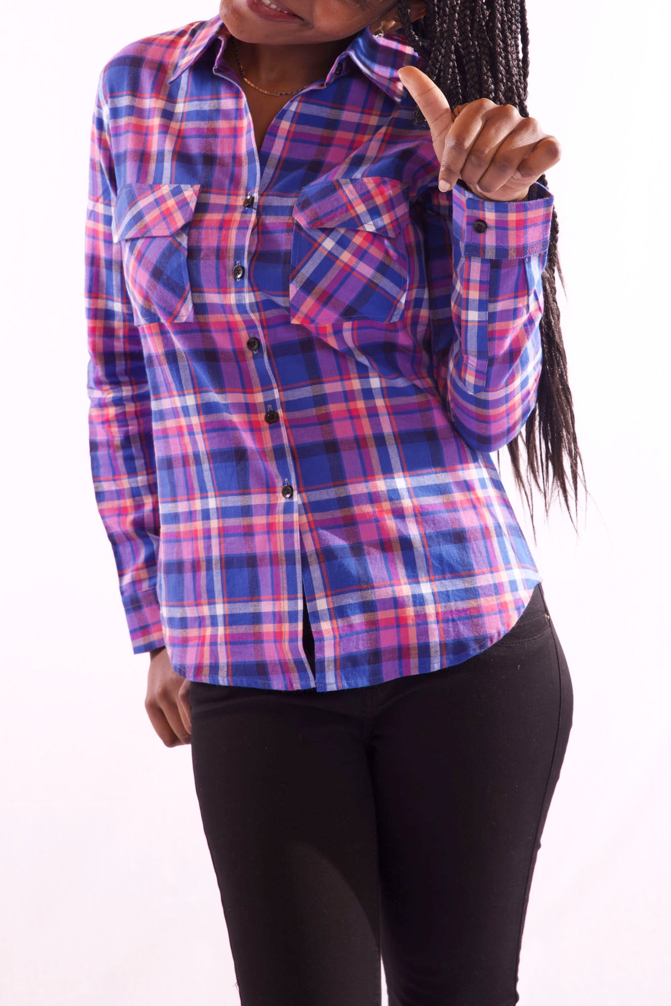 Women Full Sleeve Purple Shirt - Hillmarten