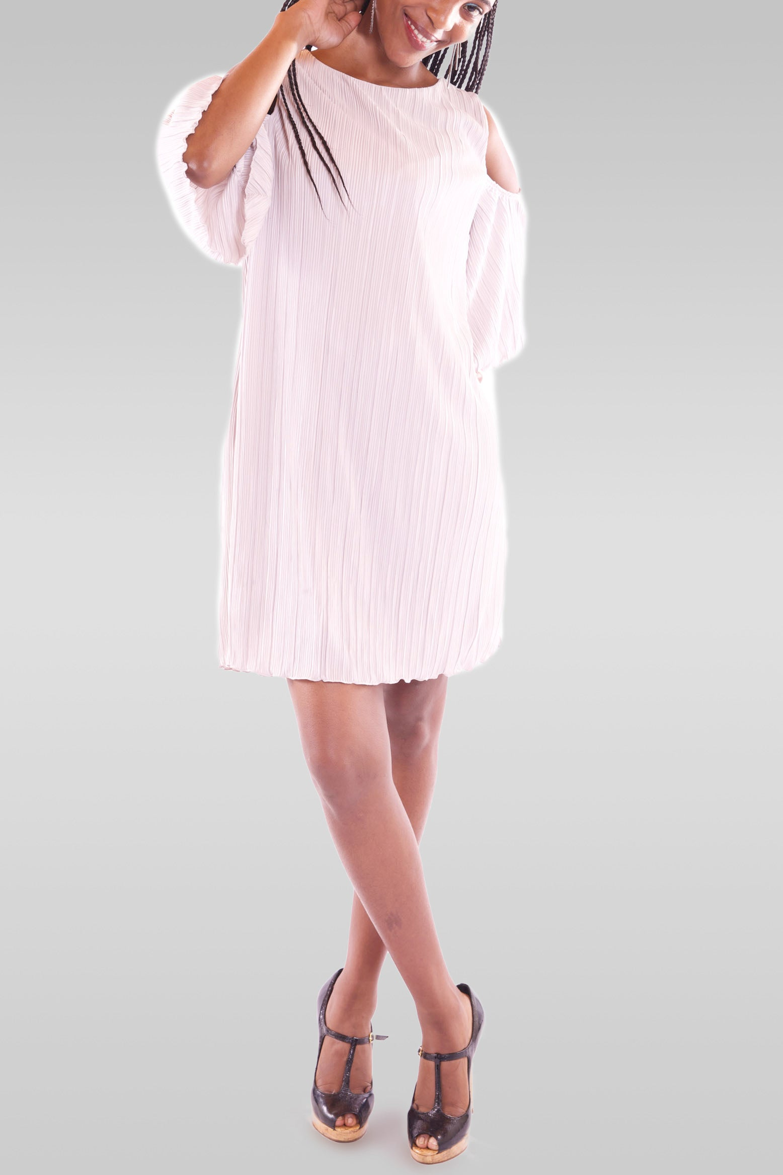 Women's Mini White Dress - Hillmarten