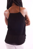Women Sleeveless Black Blouse - Hillmarten