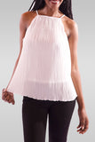 Women Sleeveless Cream Blouse