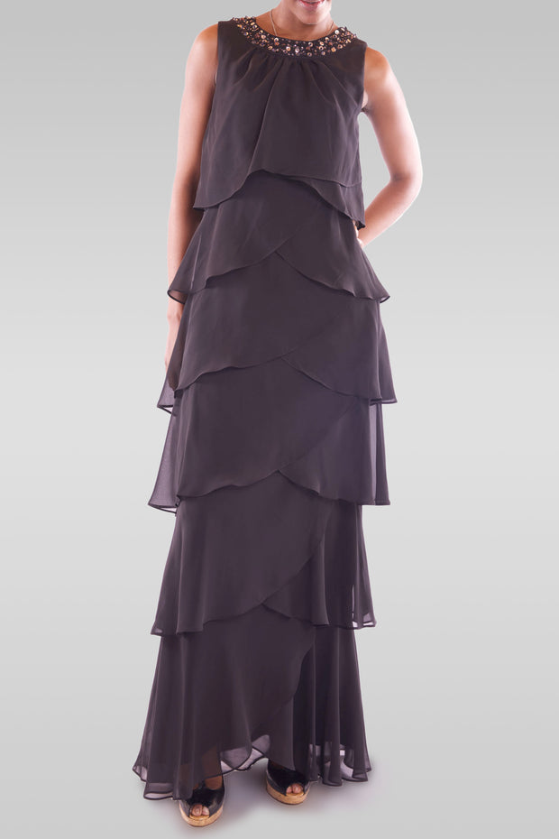 Women's Maxi Black Party Dress