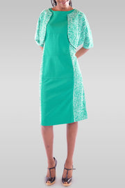 Women's Midi Light Green Dress - Hillmarten