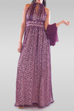 Women's Maxi Purple Dress - Hillmarten