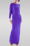 Women's Maxi Blue Dress - Hillmarten