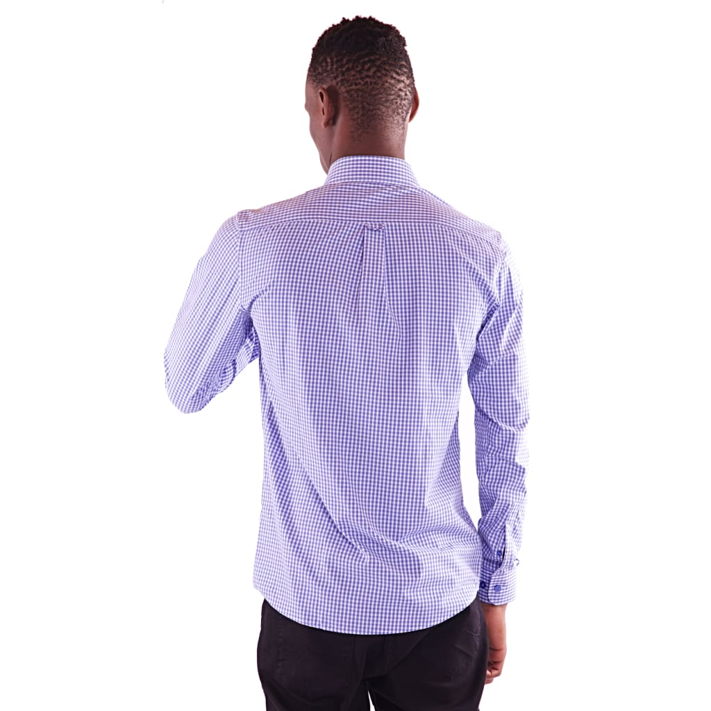 Men's Full Sleeve Blue Shirt - Hillmarten