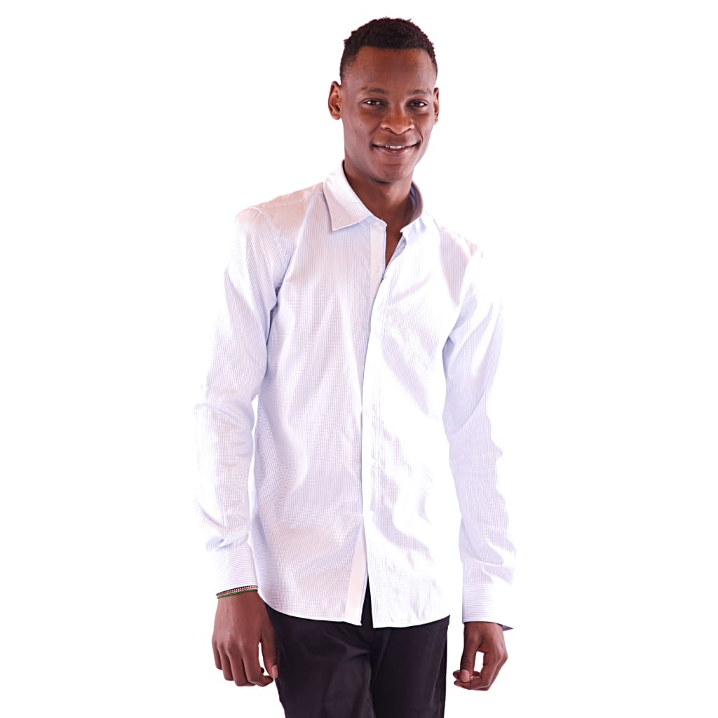 Men's Full Sleeve Light Blue Shirt - Hillmarten
