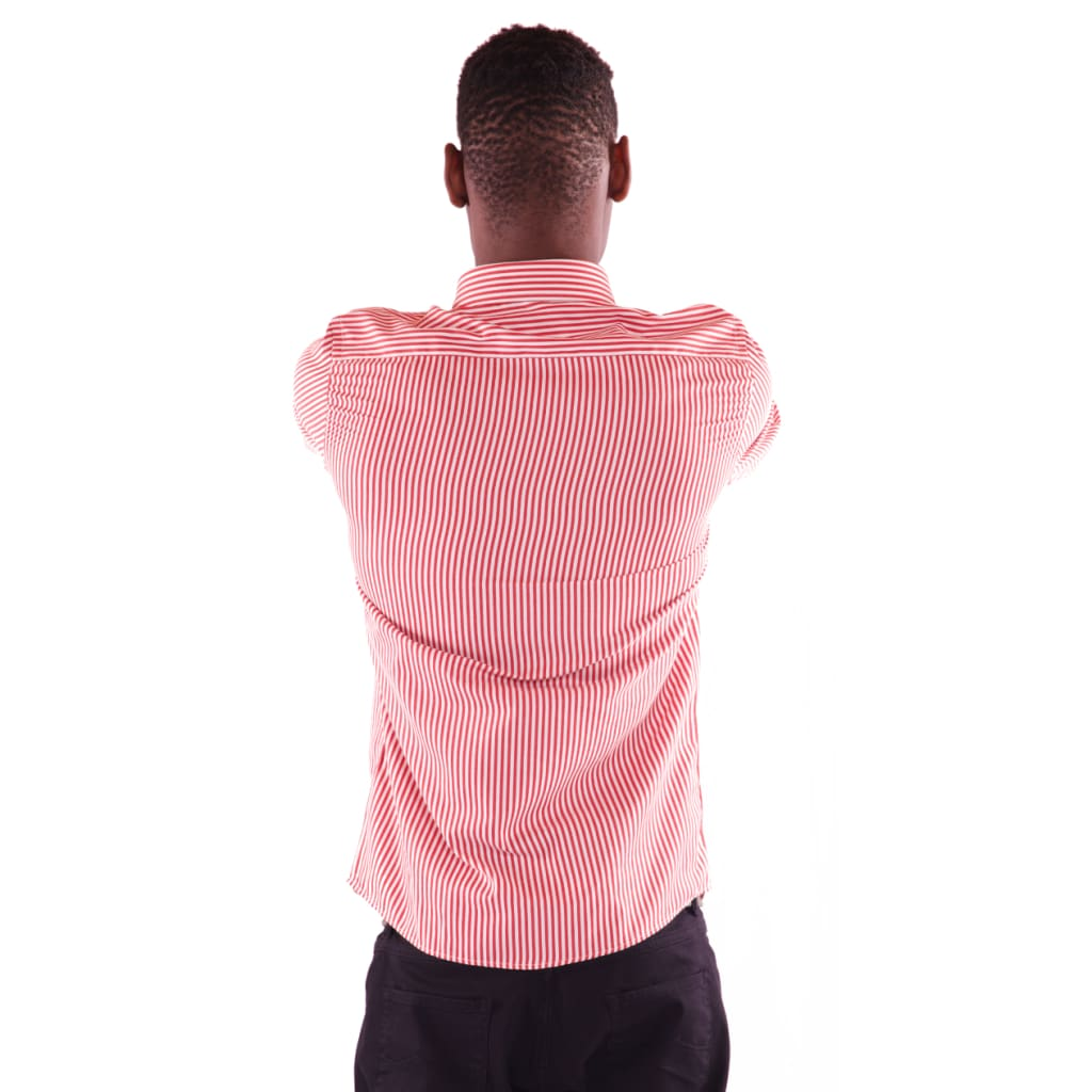 Men's Full Sleeve Pink Shirt - Hillmarten