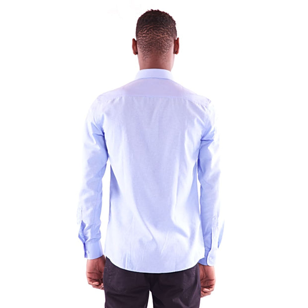 Men's Full Sleeve Sky Blue Shirt - Hillmarten