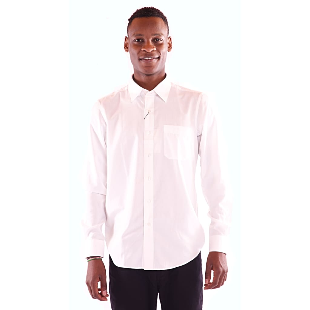 Men's Full Sleeve White Shirt - Hillmarten