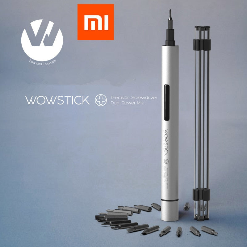 XIAOMI Mijia Wowstick 1P+ 19 In 1 Electric Screw Driver Cordless Power work with mi home smart home kit all product - Hillmarten