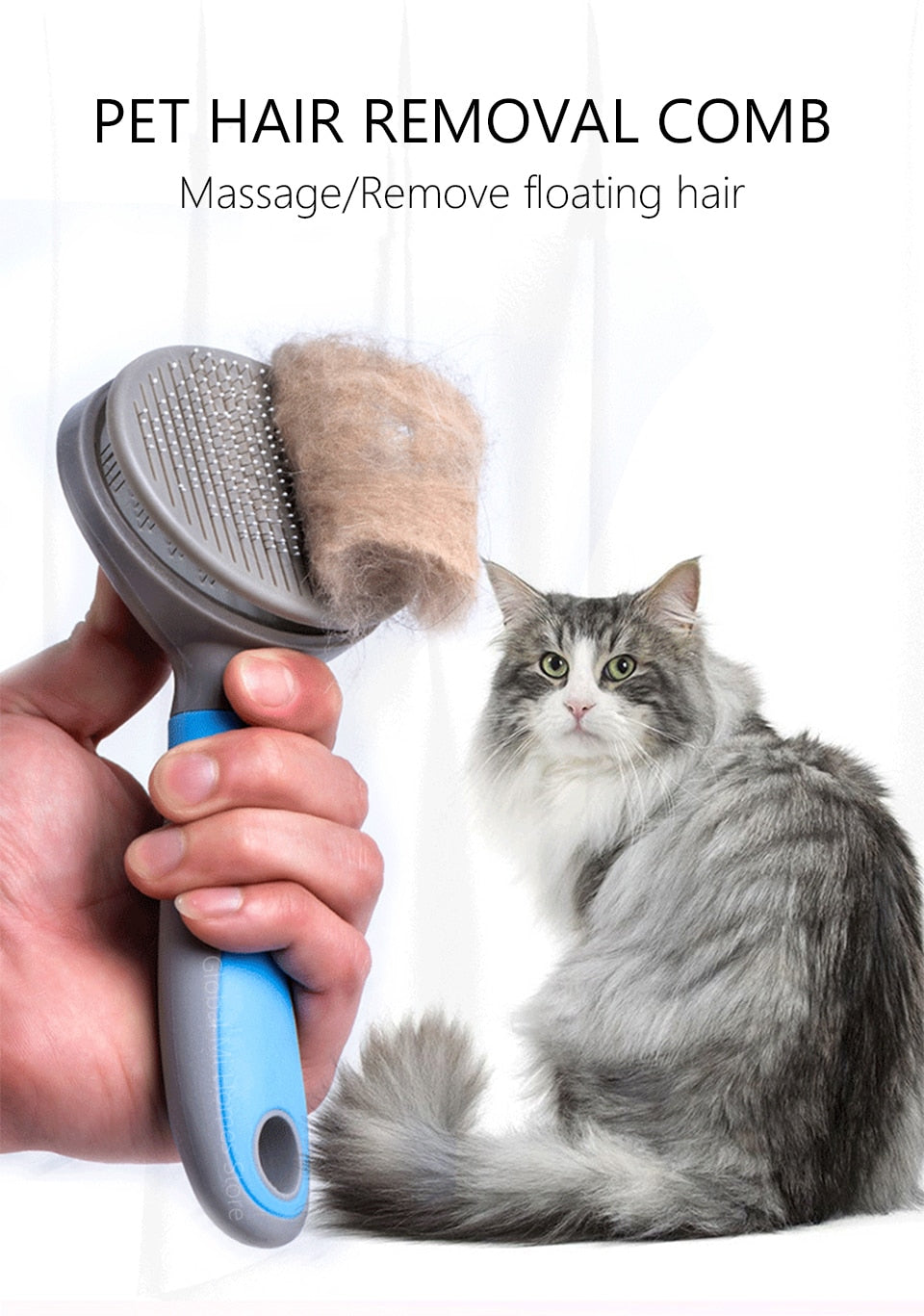 Tflag Pet Comb Xiomi Pet Cat Hair Removal Brush Comb Pet Grooming Tools Hair Shedding Trimmer Comb for Cats Xiomi Mijia 47 - Hillmarten