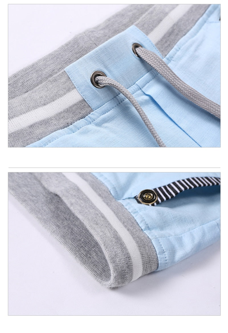 linen mens shorts Newest Summer Casual Shorts Men Cotton Fashion Men Short Bermuda Beach Short Plus Size S-4xl joggers Male 4922 - Hillmarten