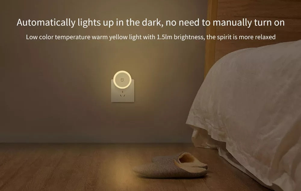 Newest Xiaomi Mijia LED Corridor Night Light Sensor Induction Night Lamp Automatic Lighting Touch Switch Energy save Smart Home - Hillmarten