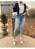 Women Jeans High Waist Stretch Denim Feet Pants 2020 Spring Was Thin And Hip But Comfortable Pencil Pants - Hillmarten