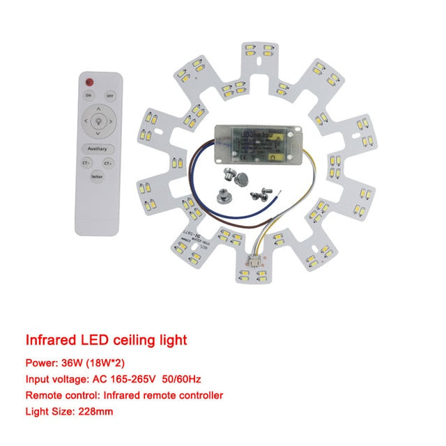 Smart 2.4G Ceiling chandelier LED 5730 SMD Chip Replacement Light Source Surface for Remote Control for living room kitchen - Hillmarten