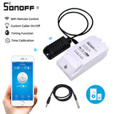 Sonoff TH16 Relay Module Smart Home Wifi Switch Humidity Sensor Temperature Monitor Works With Alexa Google Home - Hillmarten