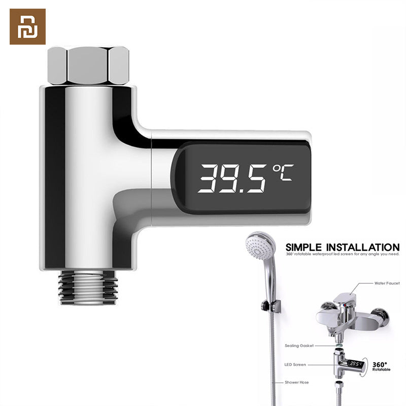 LED Display Home Water Shower ThermometerTemperture Meter Monitor Kitchen Bathroom Smart Home Baby Care - Hillmarten
