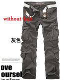 Hot sale free shipping men cargo pants camouflage  trousers military pants for man 7 colors - Hillmarten