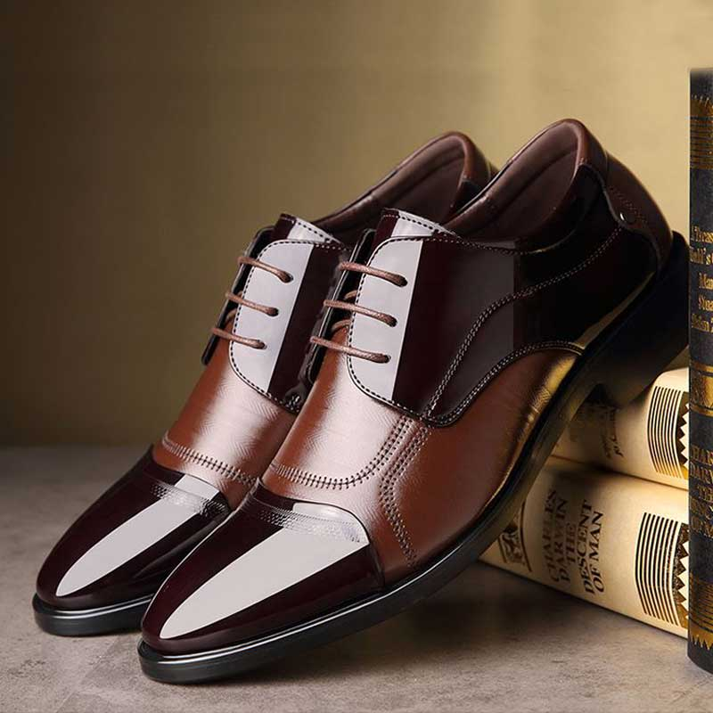 Luxury Business Oxford Leather Breathable Shoes - Hillmarten