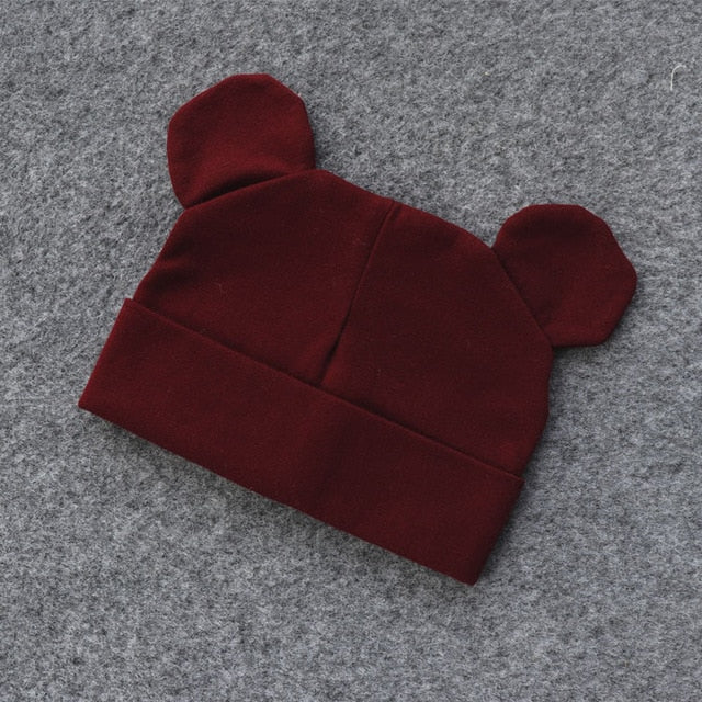 Baby Hat With Ears Cotton Warm Newborn Accessories Baby Girl Boy Autumn Winter Hat For Kids Infant Toddler Beanie Cap Girls Hat - Hillmarten