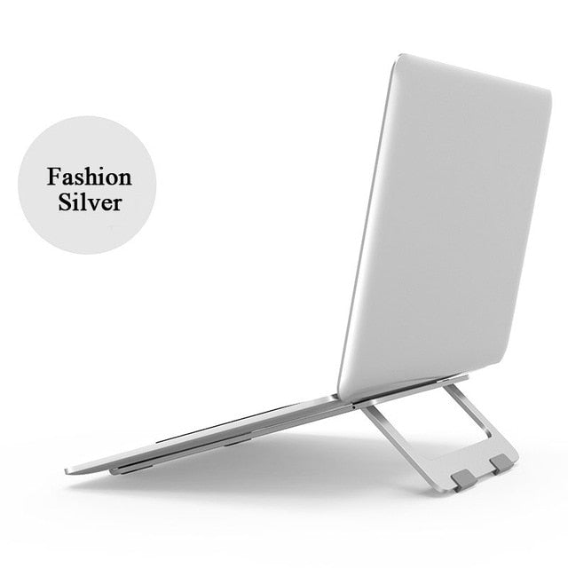 Foldable Laptop Stand  Macbook Pro Aluminum Adjustable Desktop Tablet Holder Desk Table Mobile Phone Stand For iPad Air Notebook - Hillmarten