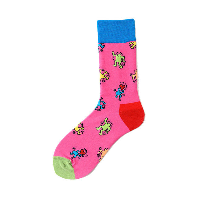 Novelty Happy Funny Men Graphic Socks - Hillmarten