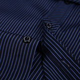 Dudalina New 2020 Men Long Sleeve Shirts Male Striped Classic-fit Comfort Soft Casual Button-Down Shirt Casual Male Shirt Tops - Hillmarten