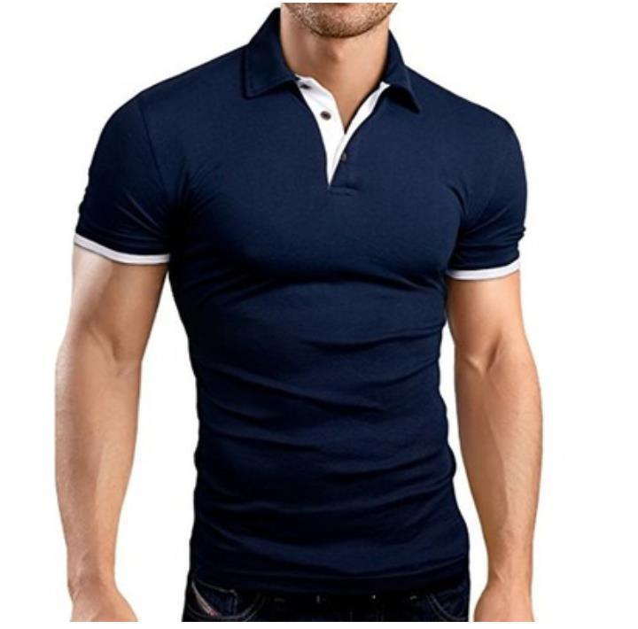 MRMT 2020 Brand Summer New Men's T-shirt Lapel Casual Short-sleeved Stitching T-shirt for Male Solid Color Pullover Tops T-shirt - Hillmarten