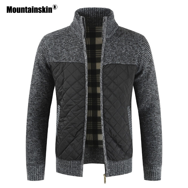 Mountainskin Men's Sweaters Autumn Winter Warm Knitted Sweater Jackets Cardigan Coats Male Clothing Casual Knitwear SA833 - Hillmarten