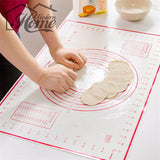 Smart Silicone Baking Mats with Measurement for Pizza Dough Non-Stick Holder Pastry Kitchen Gadgets Cooking Tools Bakeware - Hillmarten