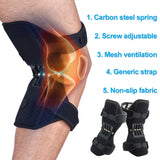 Joint Support Knee Pads Breathable Non-slip Lift Knee Pads Powerful Rebound Spring Force Knee Booster - Hillmarten