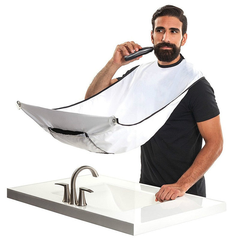 SUEF 1pcs Male Beard Apron New Shaving Aprons Beard Care Clean Beard Catcher New Year Gift For Father Boyfriend Brother@1 - Hillmarten