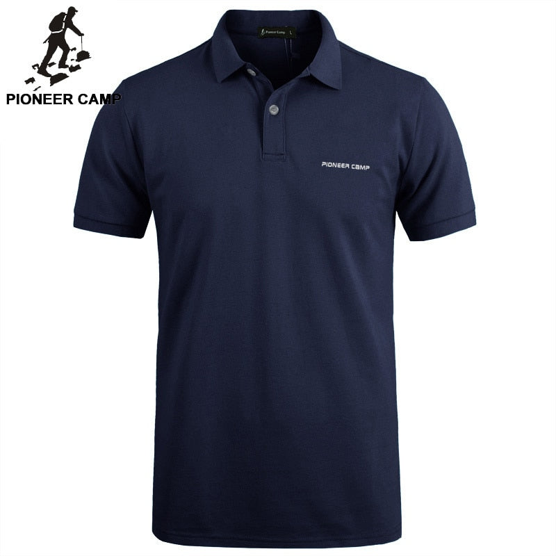 Pioneer Camp Brand Clothing Men Polo Shirt Men Business Casual Solid Male Polo Shirt Short Sleeve High Quality Pure Cotton - Hillmarten
