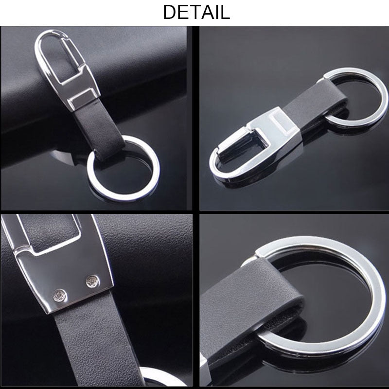 Men leather keychain metal car keyring key holder functional tool key accessories chaveiro innovative keychains jewelry J40 - Hillmarten
