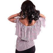 Women Off Shoulder Purple Blouse
