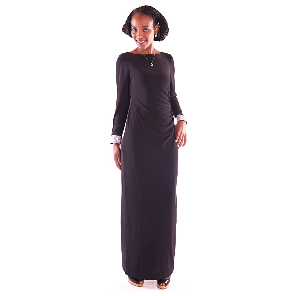 Women's Maxi Black Dress - Hillmarten