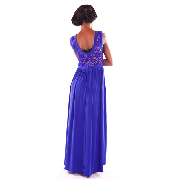 Womens Maxi Blue Dress