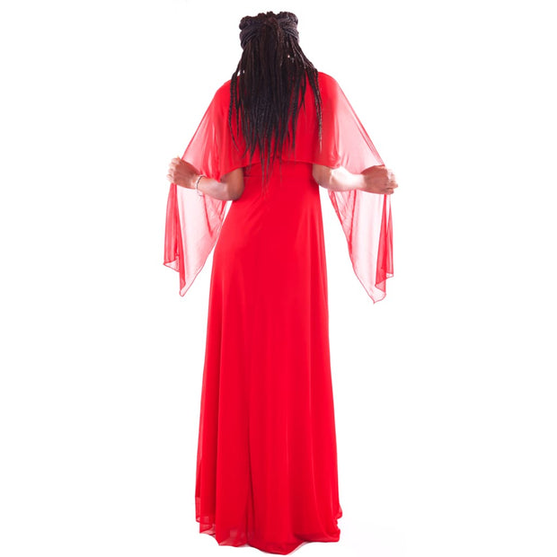Womens Maxi Red Party Dress