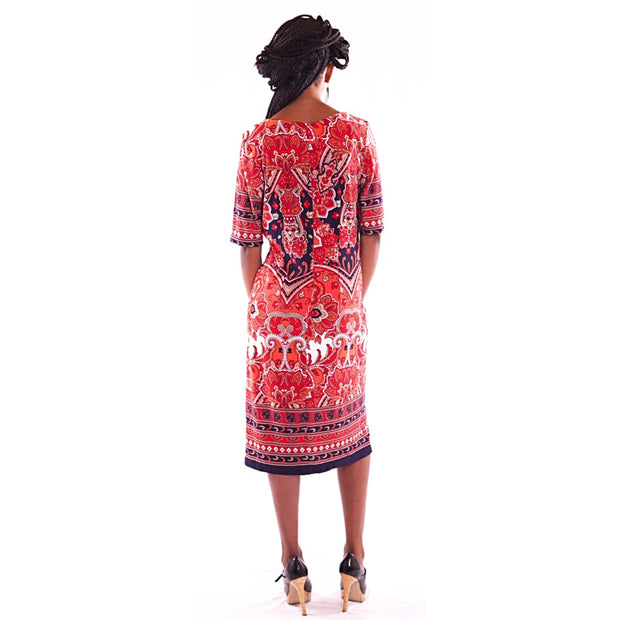 Women's Midi Red Dress - Hillmarten