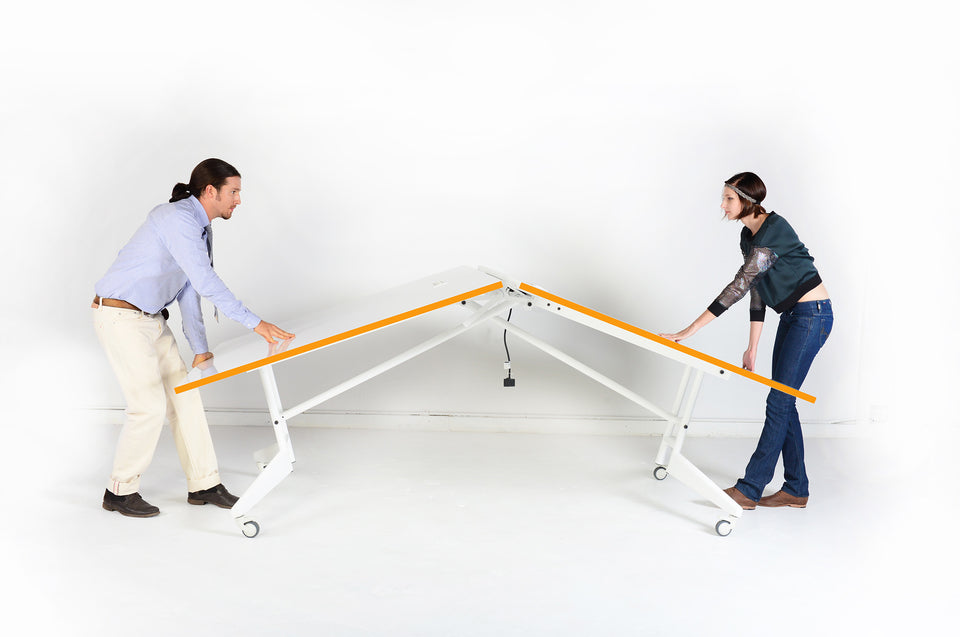NOMAD SPORT - Folding Ping Pong Conference Table and Whiteboard