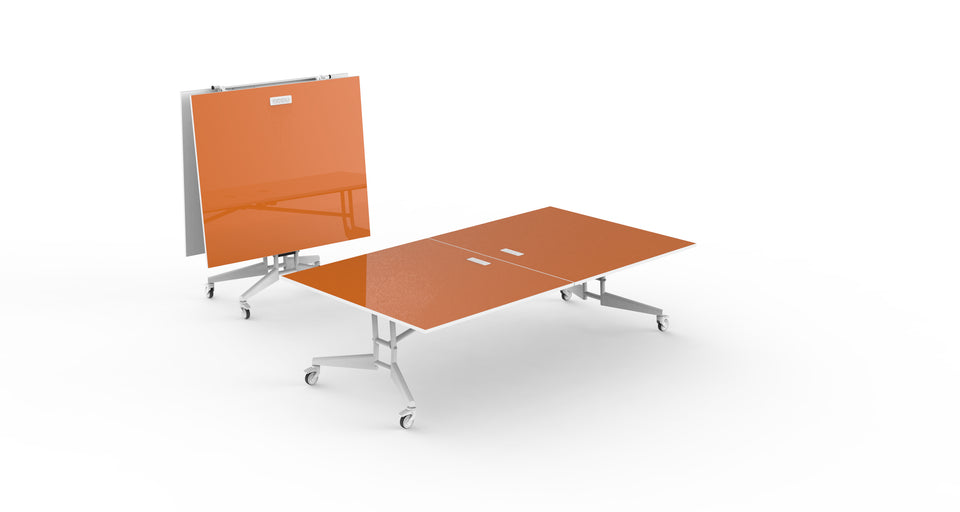 NOMAD Sport Ping Pong Conference Table Orange Dry Erase